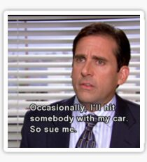 The Office Quote- Michaels Flaws Sticker