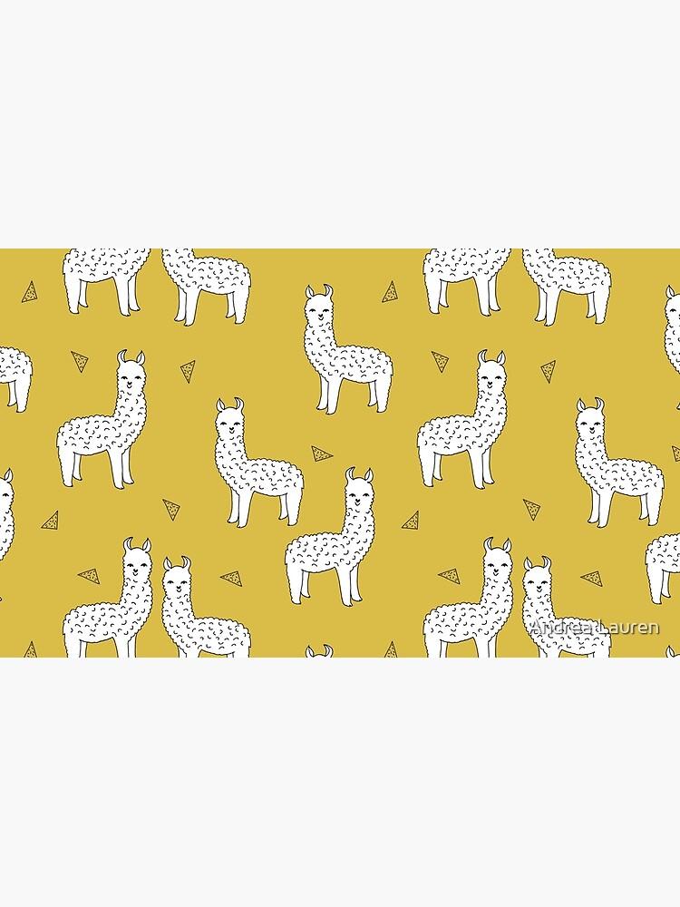 Alpaca - Mustard by Andrea Lauren by papersparrow