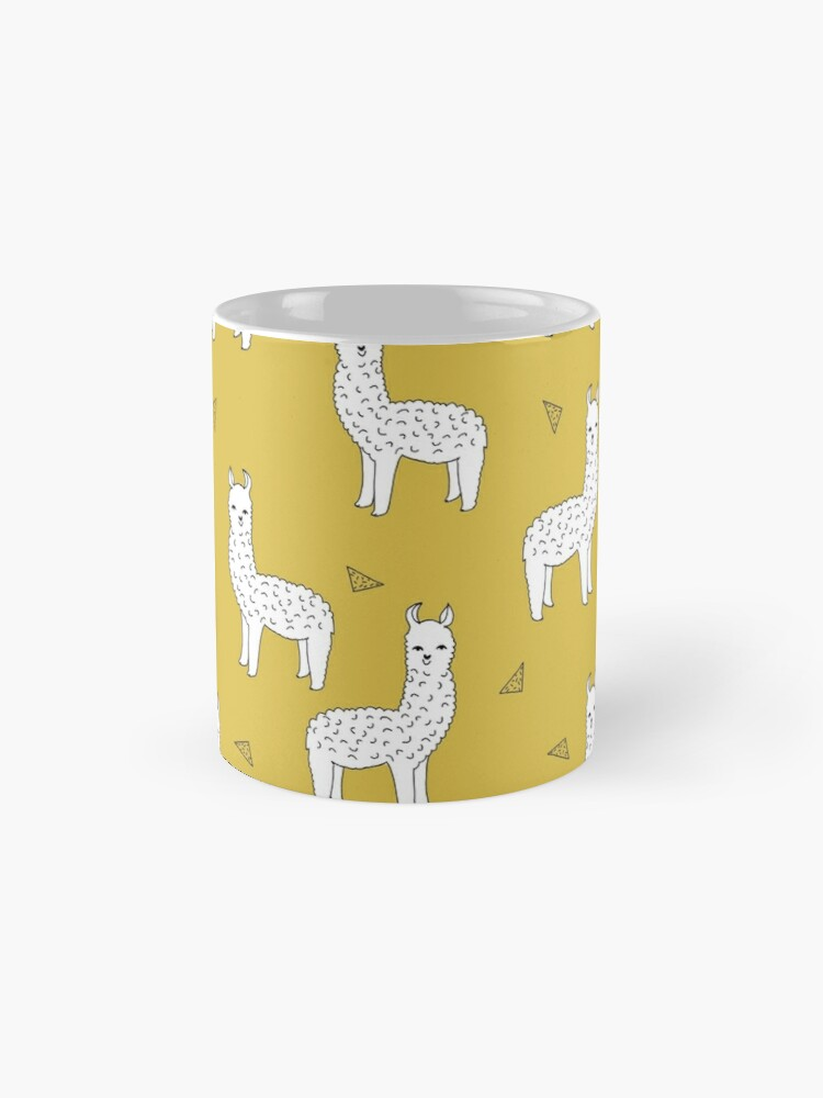 Alternate view of Alpaca - Mustard by Andrea Lauren Mug