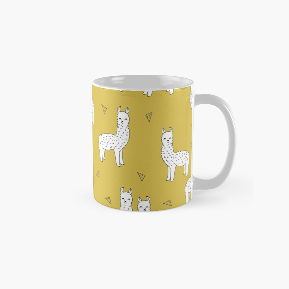 Alpaca - Mustard by Andrea Lauren Mug