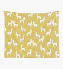 Alpaca - Mustard by Andrea Lauren Wall Tapestry