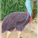 C is for Cassowary by JenaBenton