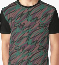Abstract brown -green pattern  Graphic T-Shirt