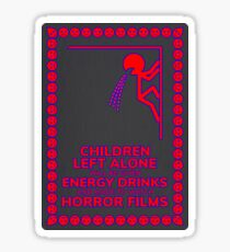 Children Left Alone will be Given Energy Drinks Sticker
