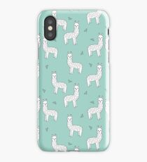 Alpaca - Mint by Andrea Lauren iPhone Case