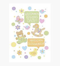 Baby Sprechblasen Photographic Print