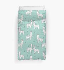 Alpaca - Mint by Andrea Lauren Duvet Cover