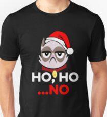 Ho Ho .. No Funny Grumpy Anti Christmas Cat Hater T-Shirt