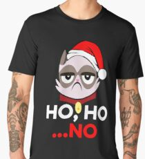 Ho Ho .. No Funny Grumpy Anti Christmas Cat Hater Men's Premium T-Shirt