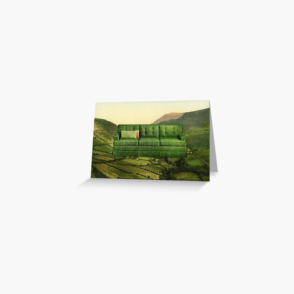 Green Couch Greeting Card