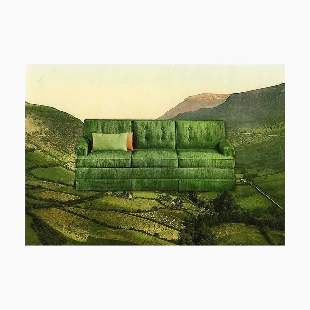Green Couch Photographic Print