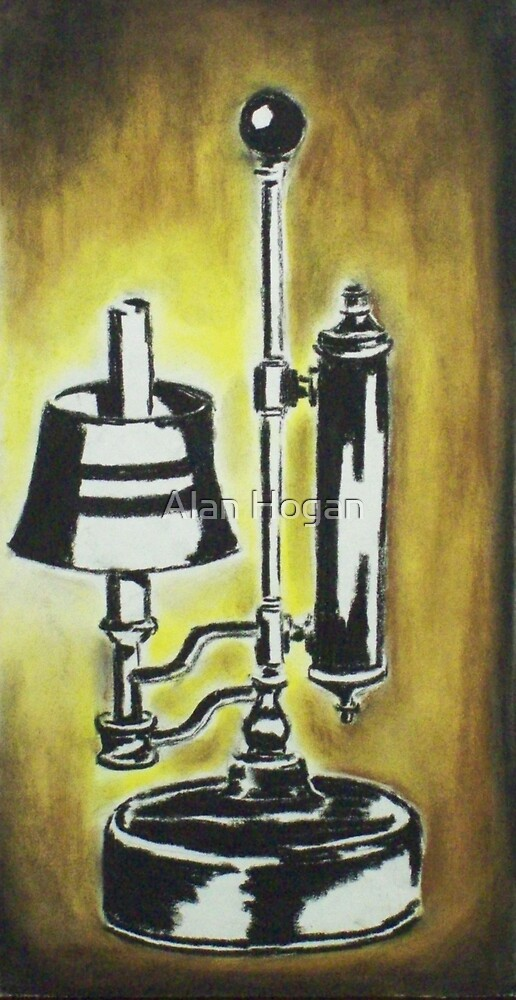 Antique Lamp in black and white by Alan Hogan