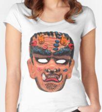 Franken-Wolf Mask Women's Fitted Scoop T-Shirt