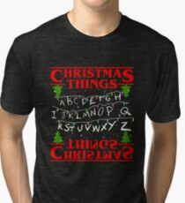 christmas alphabet Tri-blend T-Shirt