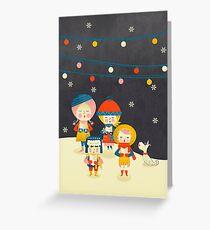 Christmas Carols Singers Greeting Card