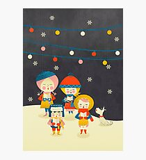 Christmas Carols Singers Photographic Print
