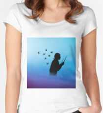 person drums 2 Women's Fitted Scoop T-Shirt