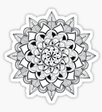 Mandala ink drawing - partly transparent Sticker