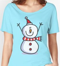 Snowmen Merry Christmas Women's Relaxed Fit T-Shirt