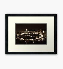 Dublin's Ha'penny Bridge Framed Print