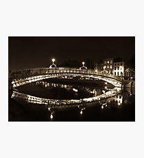 Dublin's Ha'penny Bridge Photographic Print