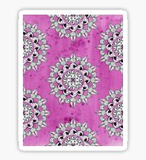 Mandalas on pink wc background repeat Sticker