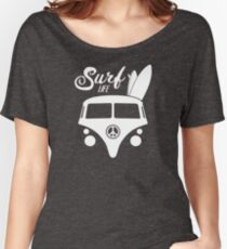Surf Life Hippy Van Surfing Graphic Women's Relaxed Fit T-Shirt