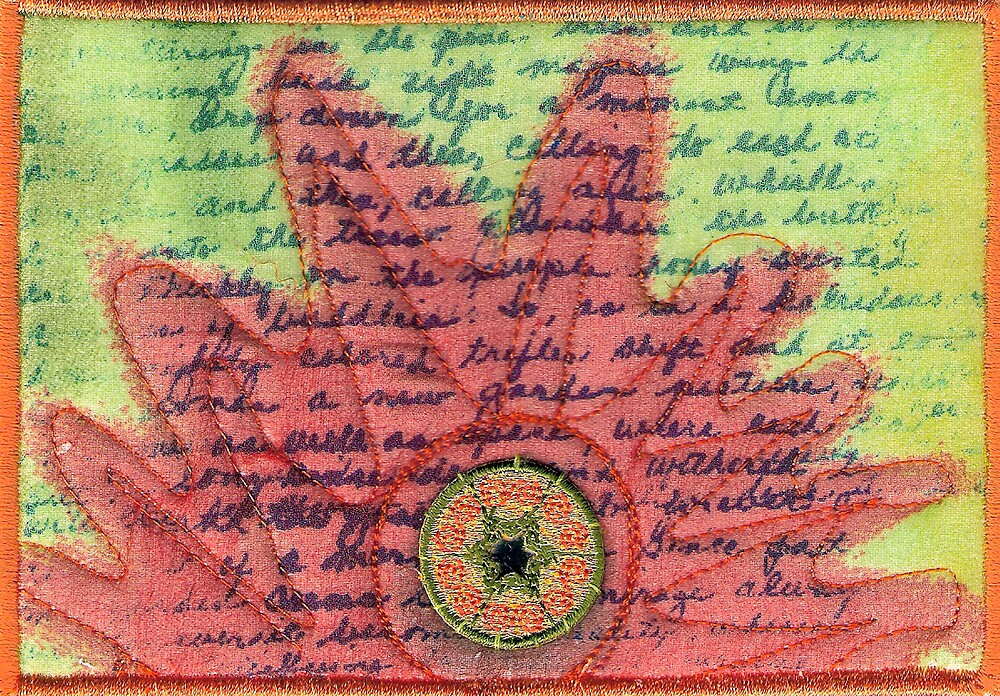 Garden postcard by quiltgranny