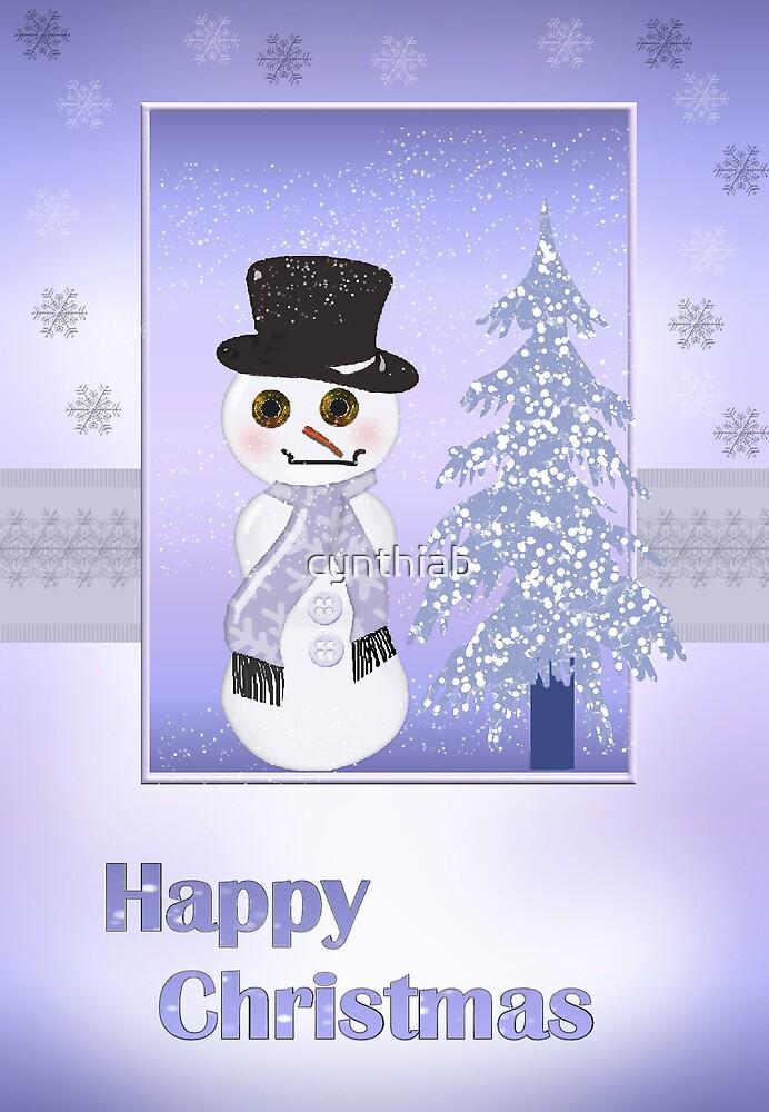 snowman christmas card by cynthiab