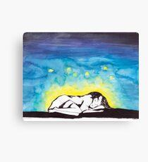 Sleep with Fireflies Canvas Print