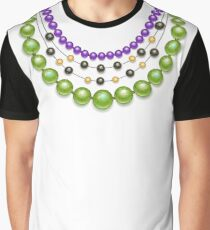 Green Beads ( Mardi Gras Necklaces ) Graphic T-Shirt