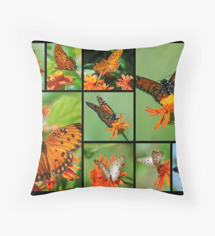 Butterfly Collage II  Throw Pillow
