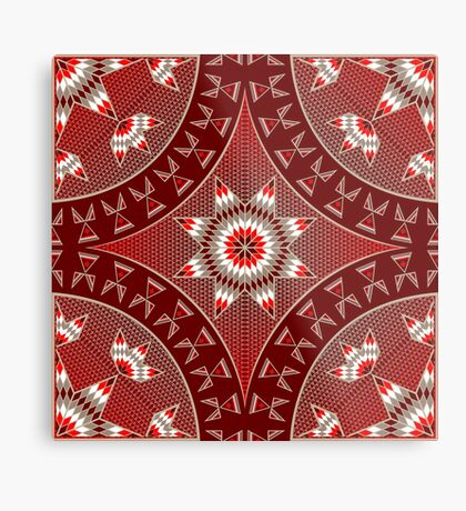 Morning Star with Tipi's (Red) Metal Print