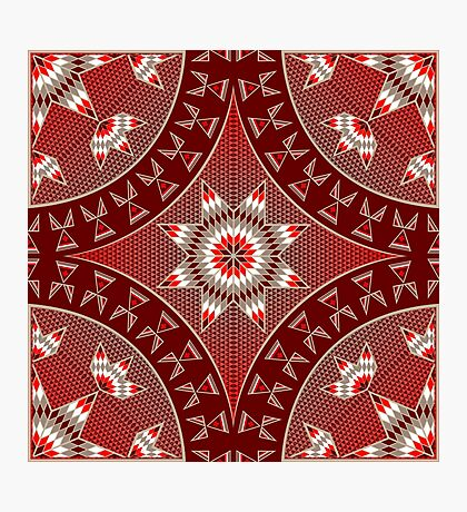 Morning Star with Tipi's (Red) Photographic Print