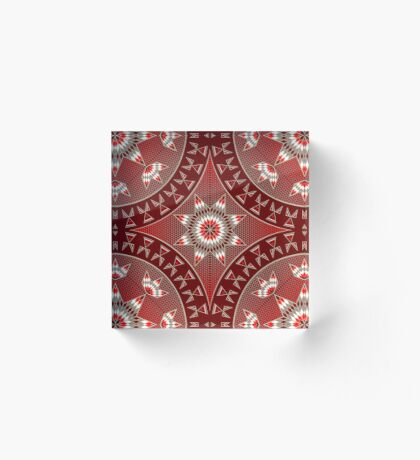 Morning Star with Tipi's (Red) Acrylic Block