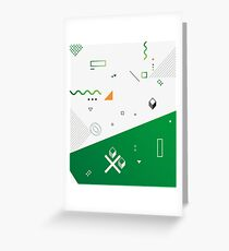 Green Geometric Abstract Form Greeting Card