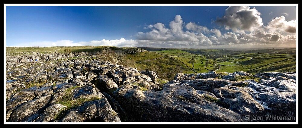 Malham Cove Panorama by Shaun Whiteman