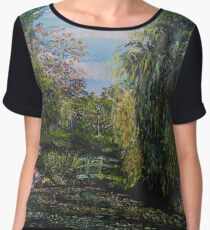 Monet's Garden Women's Chiffon Top