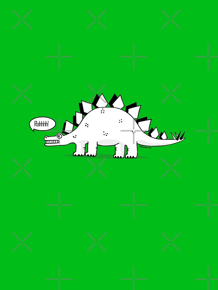 Cartoon Stegosaurus by siege103