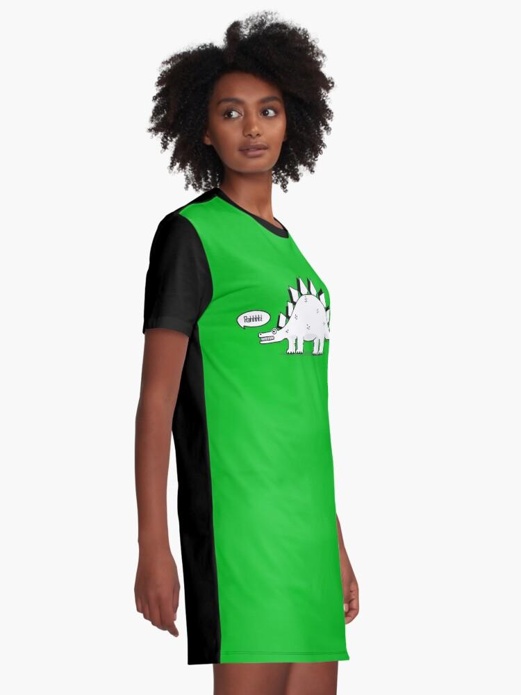 Alternate view of Cartoon Stegosaurus Graphic T-Shirt Dress