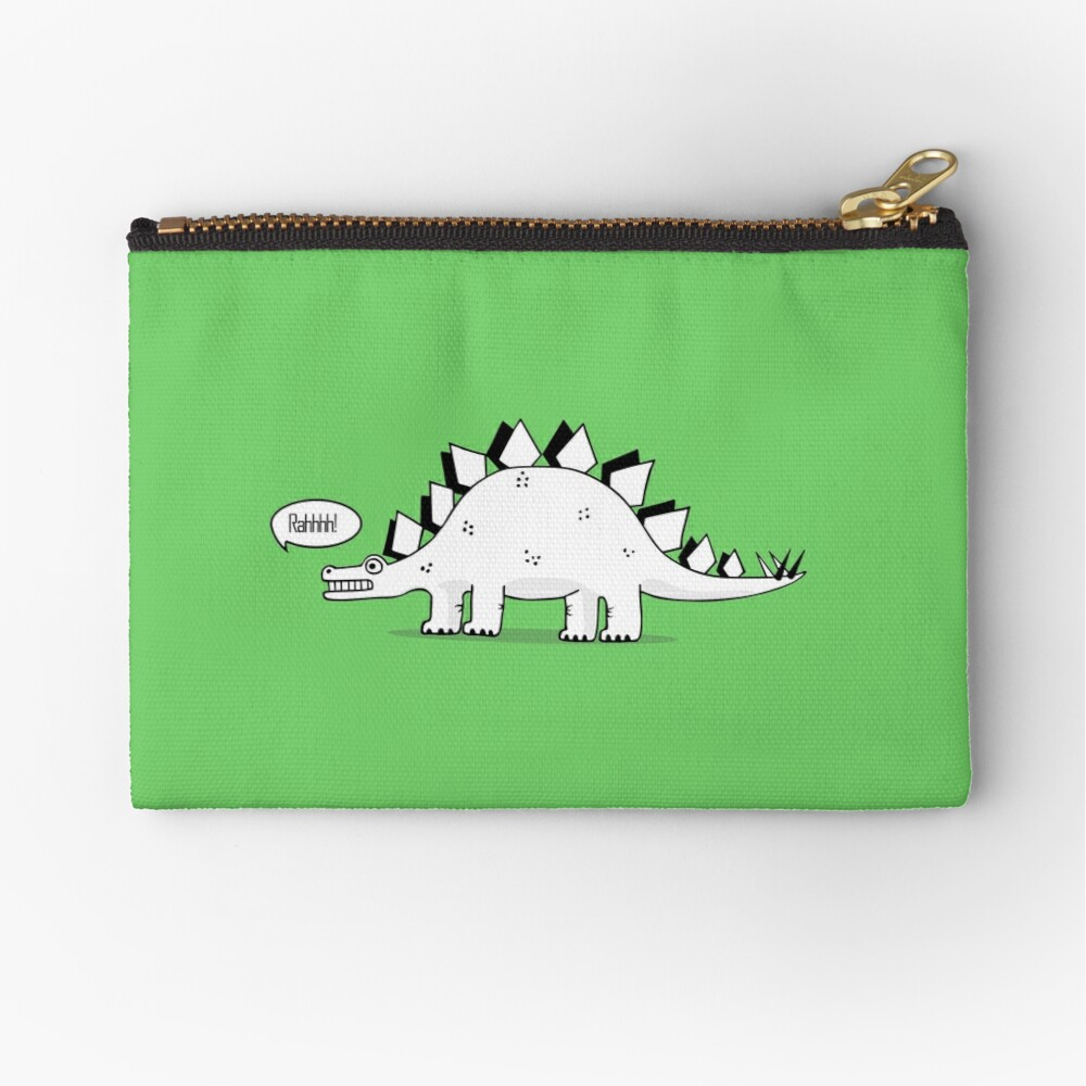 Cartoon Stegosaurus Zipper Pouch