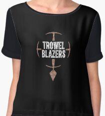 TrowelBlazers Logo BLACK Women's Chiffon Top