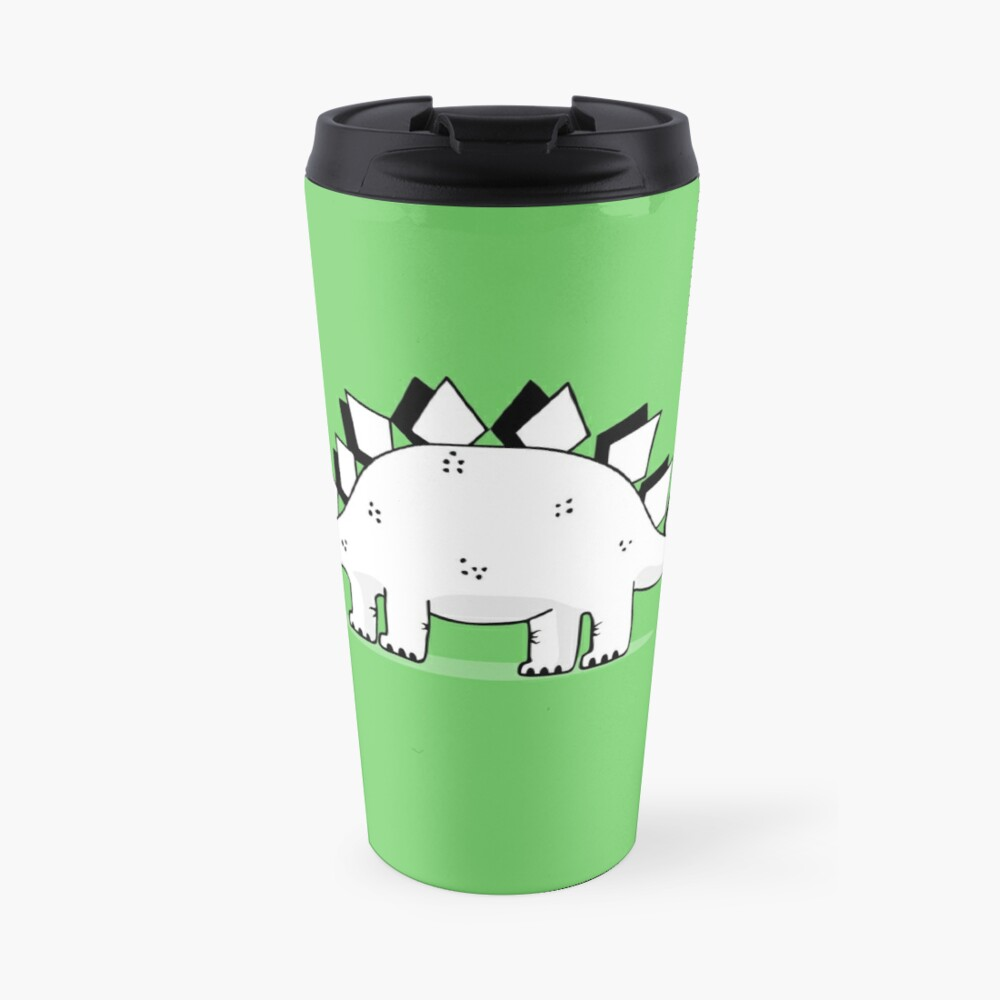 Cartoon Stegosaurus Travel Mug