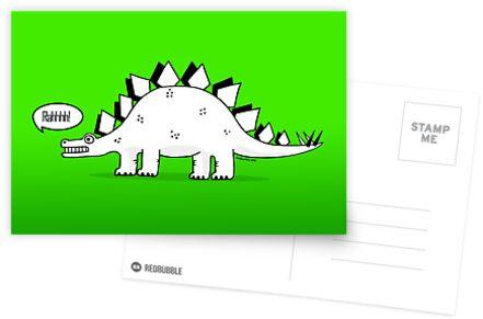 Cartoon Stegosaurus by Chris Jackson