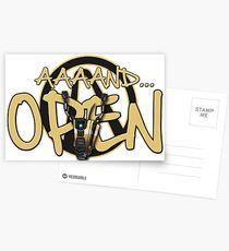 Claptrap AND OPEN Postcards