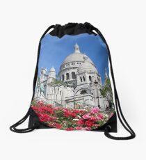 Sacré-Cœur in bloom Drawstring Bag