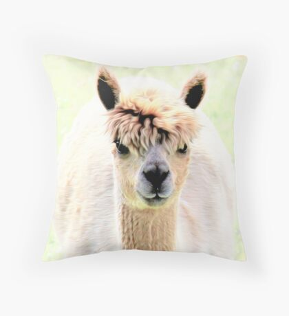 Sweet alpaca Throw Pillow