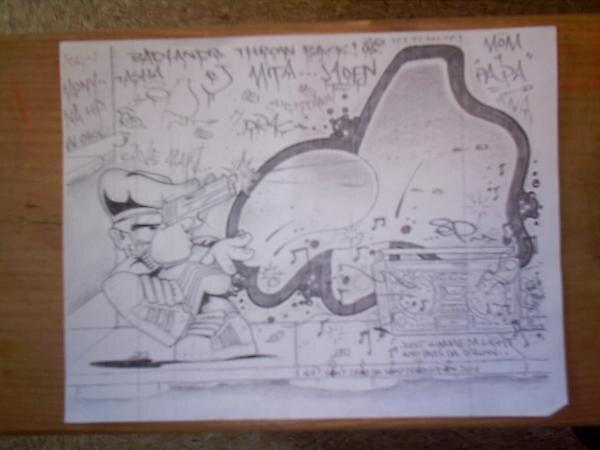 Old School spraypaint Gangsta. by epdoe