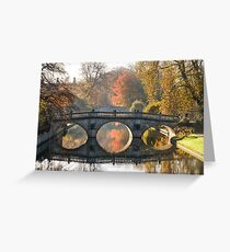 Clare College and King's College Bridges Greeting Card