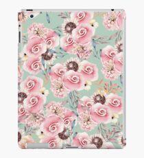 Vinilo o funda para iPad Rosas botánicas de la acuarela rosada en colores pastel del vintage